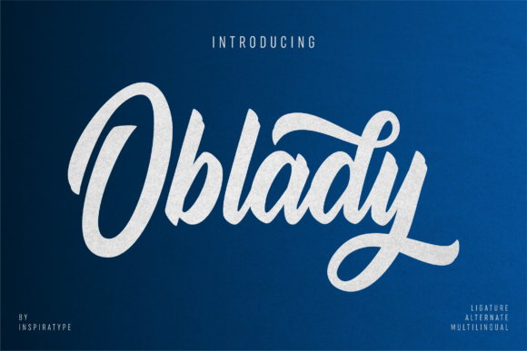 Print on Demand: Oblady Script & Handwritten Font By InspiraType - Image 1