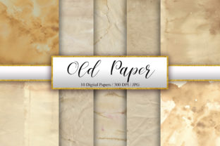 Print on Demand: Old Paper Texture Background Graphic Backgrounds By PinkPearly