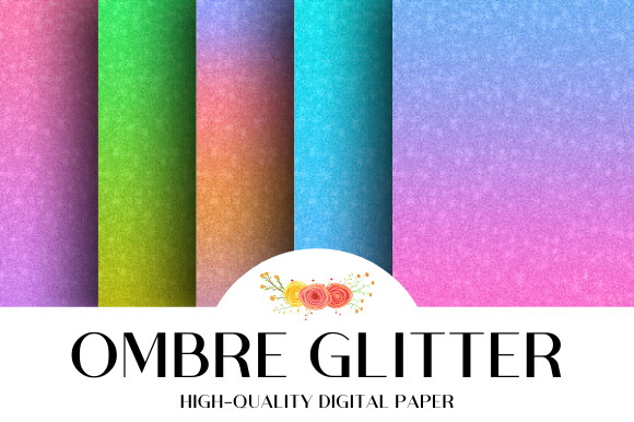 Print on Demand: Ombre Glitter Gemstone Texture Vol.2 Graphic Textures By atlasart