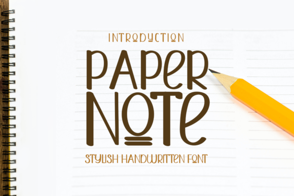 Print on Demand: Paper Note Script & Handwritten Font By ONE DESIGN - Image 1