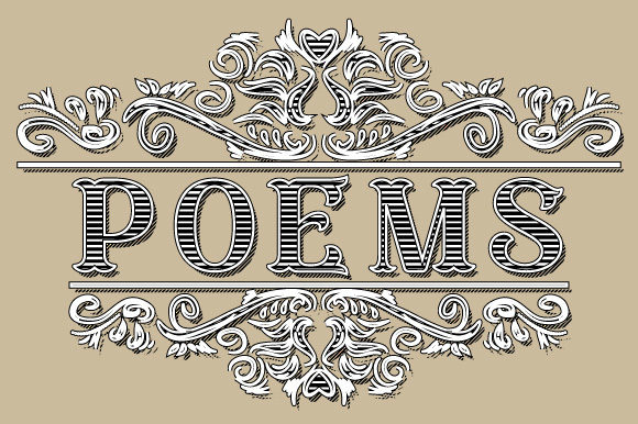 Print on Demand: Poems Vintage Ornamental Frame Graphic Illustrations By GraphicsFarm