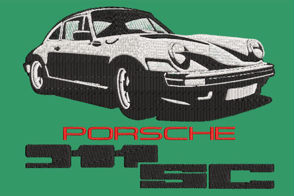 Print on Demand: Porsche 911SC All Time Classic Car Transporte Diseños de bordado Por Embroidery Shelter