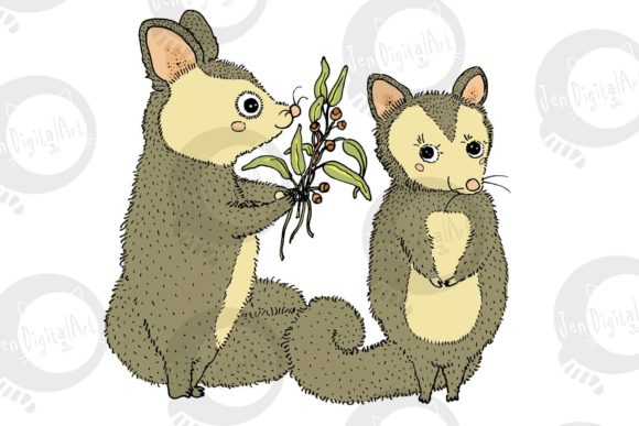Possums Graphic Illustrations By Jen Digital Art - Image 3