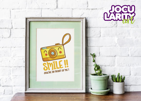 Download Free Printable Cute Kawaii Camera Wall Art Graphic By Jocularityart for Cricut Explore, Silhouette and other cutting machines.