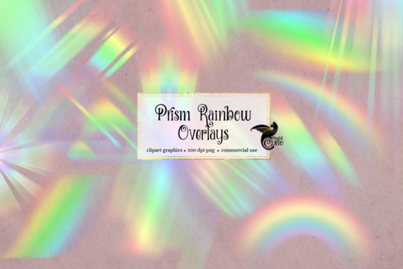 Print on Demand: Prism Rainbow Overlays Graphic Illustrations By Digital Curio