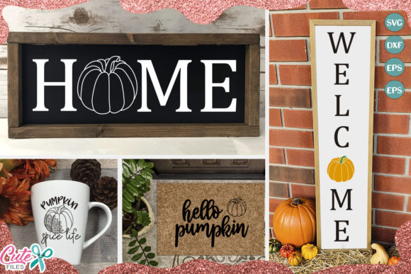 Download Free Pumpking Season Set Graphic By Cute Files Creative Fabrica for Cricut Explore, Silhouette and other cutting machines.