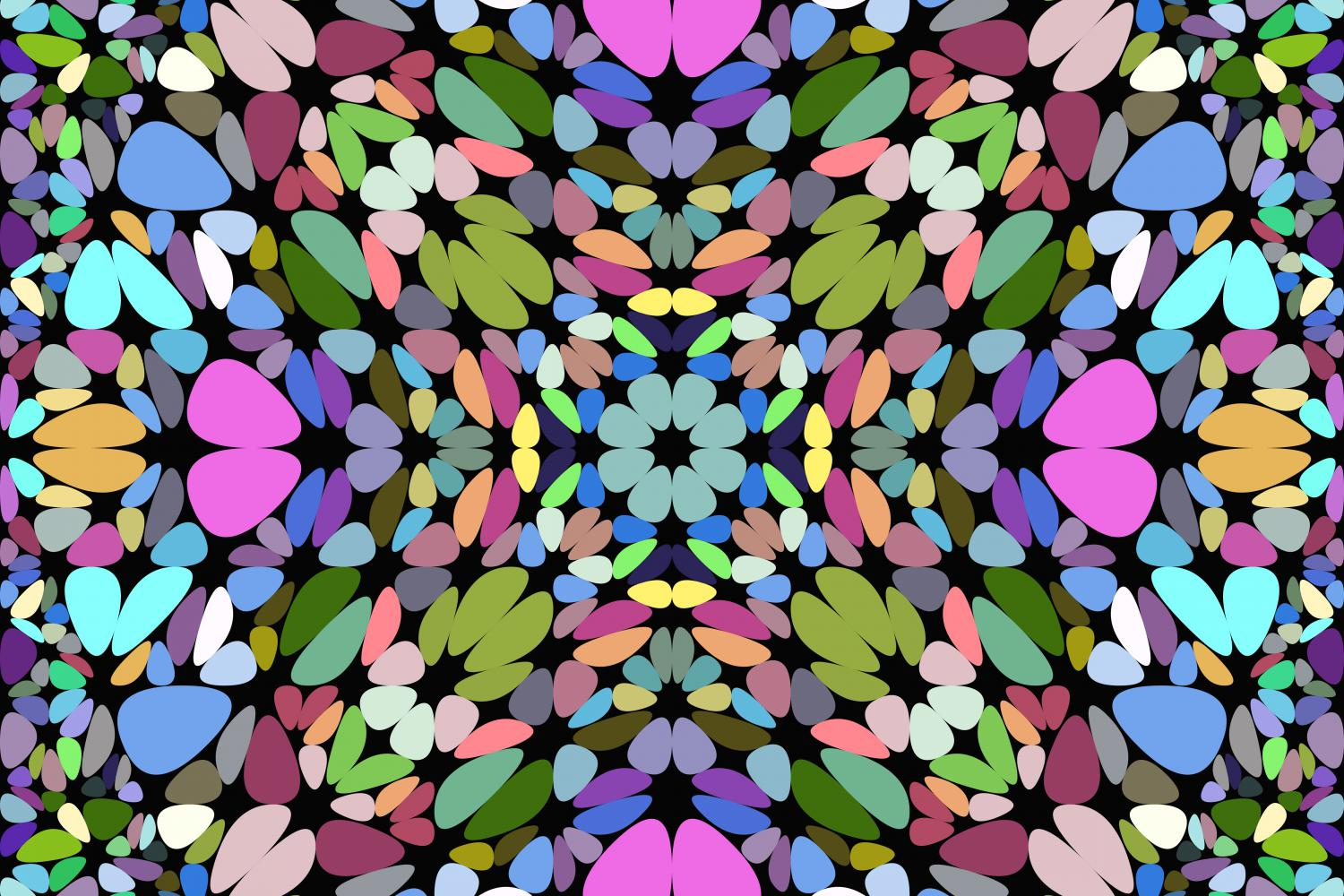 Download Free Seamless Colorful Kaleidoscope Pattern Graphic By Davidzydd for Cricut Explore, Silhouette and other cutting machines.