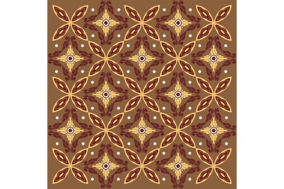 Simple Javanese Batik Flower Pattern Graphic Backgrounds By cityvector91