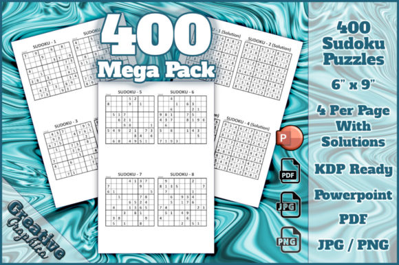 Download Free Sudoku Hard Solutions Mega Pack Graphic By Creative Graphica SVG Cut Files