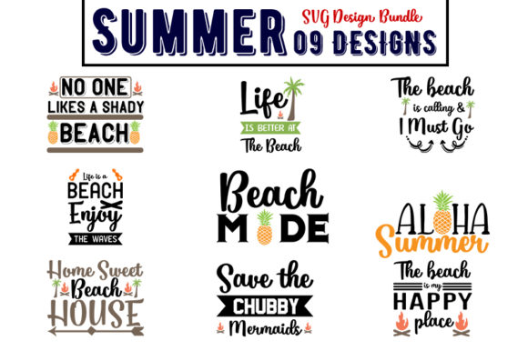 Download Free Summer Bundles Graphic By Design Store Creative Fabrica for Cricut Explore, Silhouette and other cutting machines.