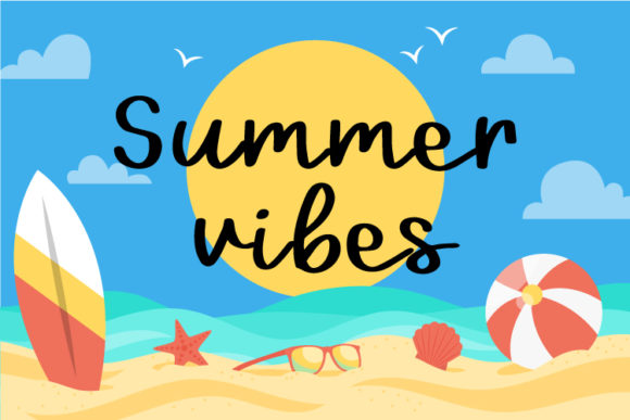 Print on Demand: Summer Vibes Script & Handwritten Font By The Gelato