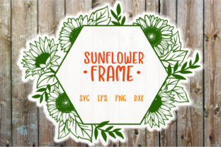 Download Free Sunflower Frame Cut File Graphic By Tatiana Cociorva Creative for Cricut Explore, Silhouette and other cutting machines.
