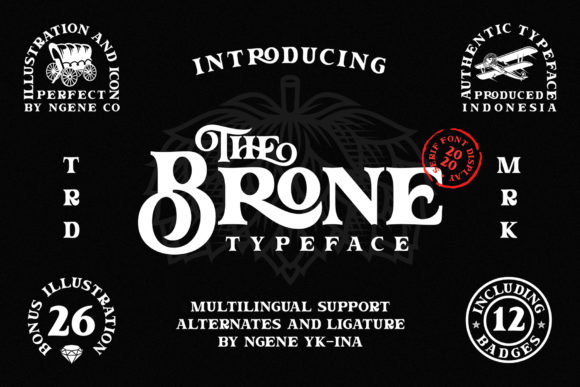 Print on Demand: The Brone Serif Font By Ngene