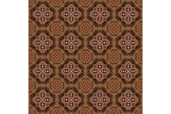 Tradisional Batik Floral Pattern Graphic Backgrounds By cityvector91