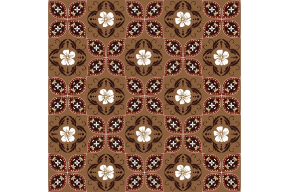 Traditional Batik Java Graphic Backgrounds By cityvector91