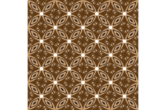 Unique Circle Pattern On Java Batik Graphic By Cityvector91