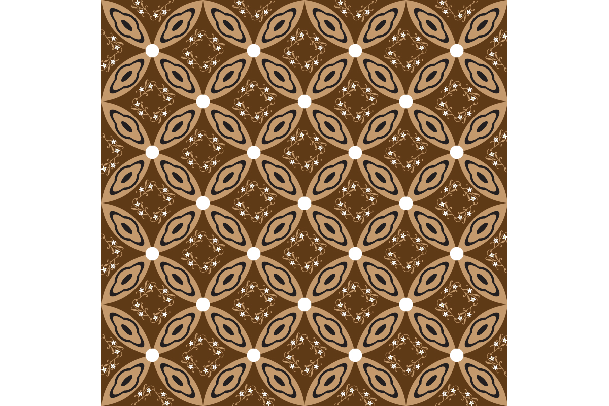 Download Free Unique Circle Pattern On Java Batik Graphic By Cityvector91 for Cricut Explore, Silhouette and other cutting machines.