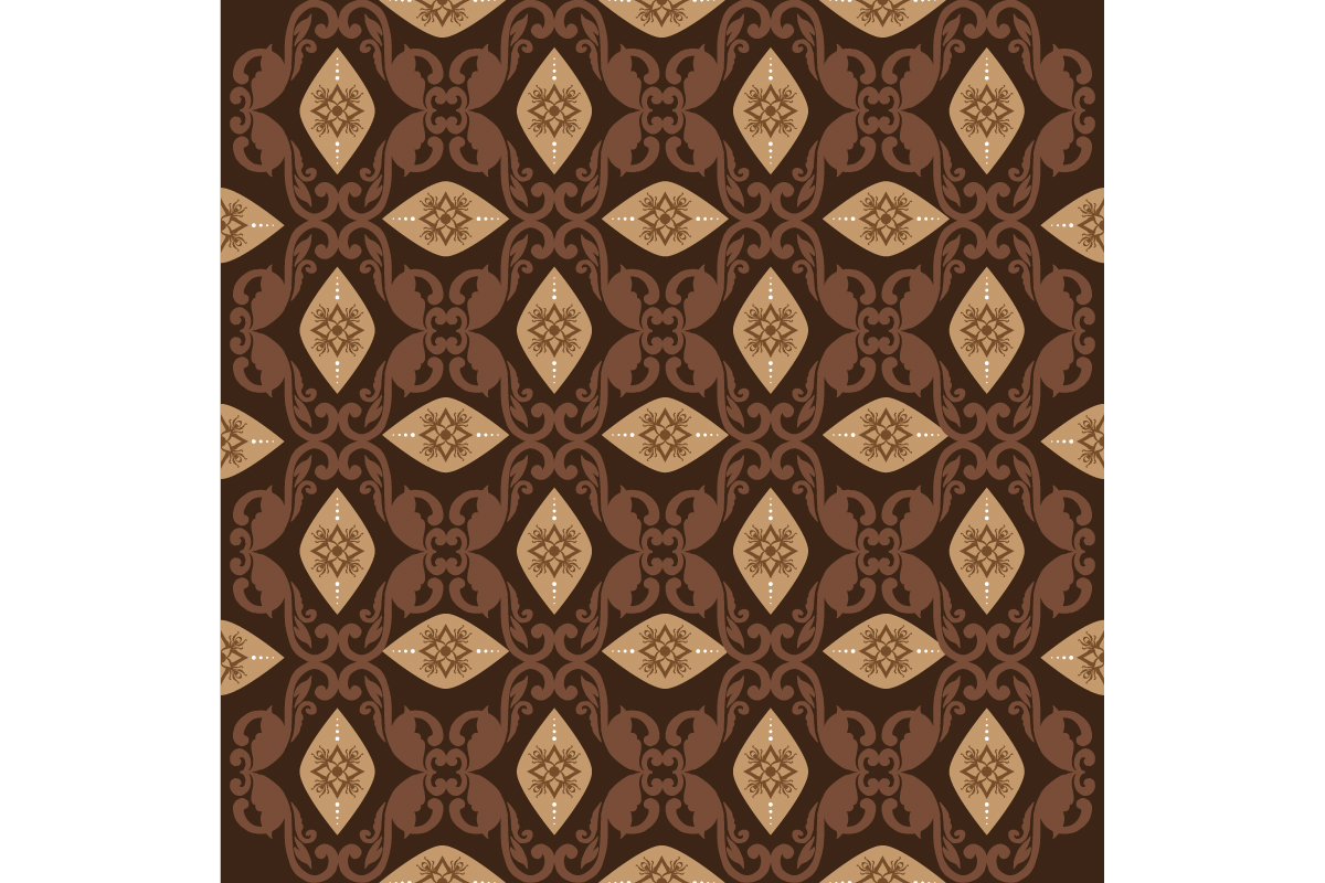 Download Free Unique Flower Pattern On Javanese Batik Graphic By Cityvector91 for Cricut Explore, Silhouette and other cutting machines.
