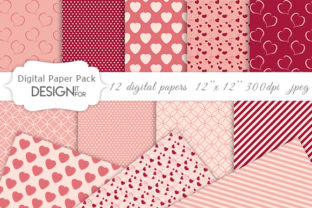 Print on Demand: Valentine's Day Digital Paper Pack Graphic Textures By DesignItfor