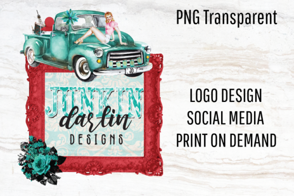 Print on Demand: Vintage Truck, Retro Logo, Sublimation Graphic Logos By Blueberry Jam Design