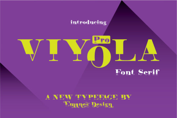 Print on Demand: Viyola Serif Font By emanesdsign