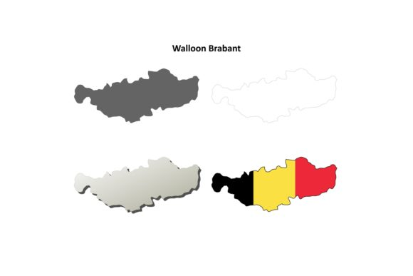 Download Free Walloon Brabant Map Set Belgian Version Graphic By Davidzydd for Cricut Explore, Silhouette and other cutting machines.