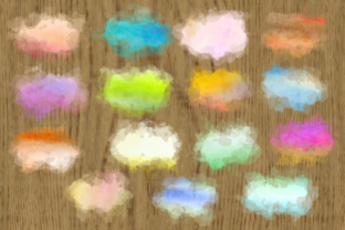Print on Demand: Watercolor Border Blot Ink Splashes Graphic Backgrounds By Prawny 3