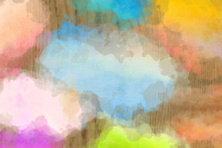 Print on Demand: Watercolor Border Blot Ink Splashes Graphic Backgrounds By Prawny 4