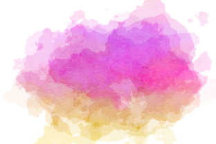 Print on Demand: Watercolor Border Blot Ink Splashes Graphic Backgrounds By Prawny 5