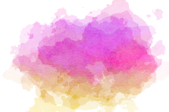 Print on Demand: Watercolor Border Blot Ink Splashes Graphic Backgrounds By Prawny - Image 5
