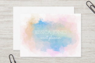 Print on Demand: Watercolor Border Blot Ink Splashes Graphic Backgrounds By Prawny 6