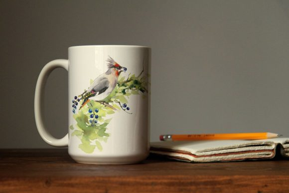 Watercolor Forest Bird Frames Graphic Illustrations By Мария Кутузова - Image 10