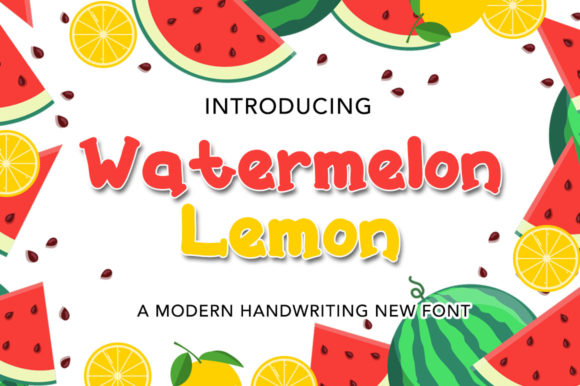 Print on Demand: Watermelon Lemon Script & Handwritten Font By morningmondayy