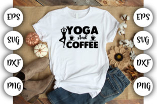 Download Free Yoga And Coffee Graphic By Design Store Creative Fabrica for Cricut Explore, Silhouette and other cutting machines.