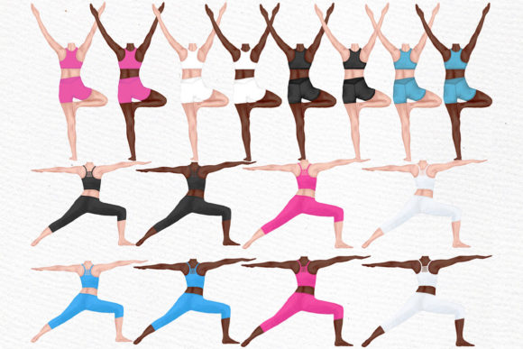 Yoga Girls Clipart Graphic Illustrations By LeCoqDesign - Image 2