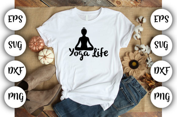 Download Free Yoga Life Grafico Por Design Store Creative Fabrica for Cricut Explore, Silhouette and other cutting machines.