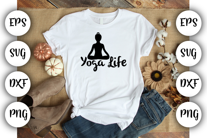 Download Free Yoga Life Grafico Por Design Store Creative Fabrica SVG Cut Files
