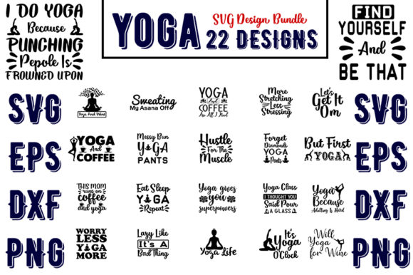 Download Free Yoga Bundles Graphic By Design Store Creative Fabrica for Cricut Explore, Silhouette and other cutting machines.