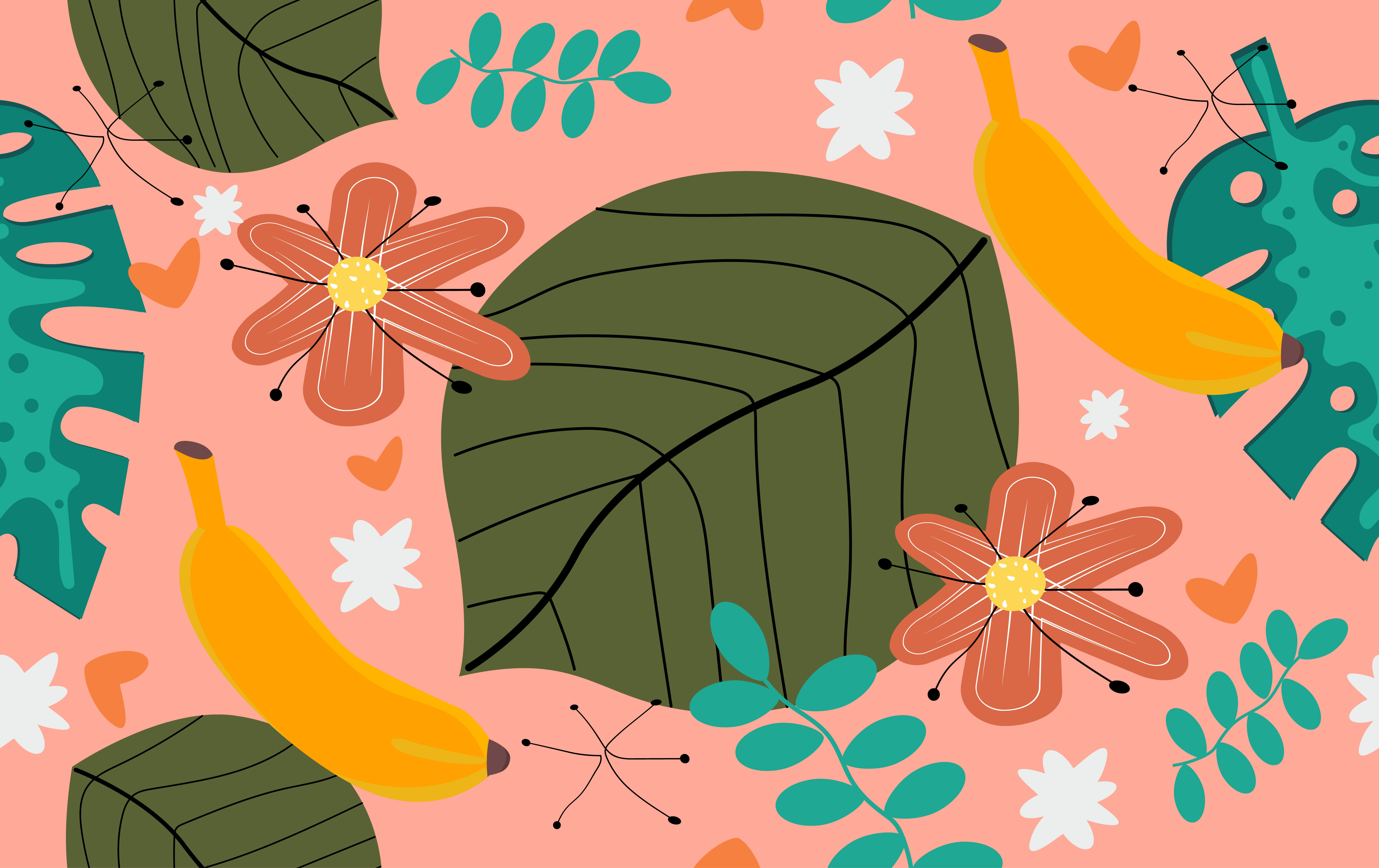 Download Free Floral Seamless Pattern Design Graphic By Ngabeivector for Cricut Explore, Silhouette and other cutting machines.