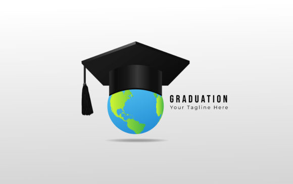 Download Free Graduation Cap With Globe Design Graphic By Ngabeivector for Cricut Explore, Silhouette and other cutting machines.