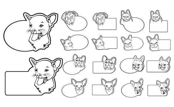 Print on Demand: Greeting Card Theme Dog Line Art Bundle Graphic Crafts By Arief Sapta Adjie