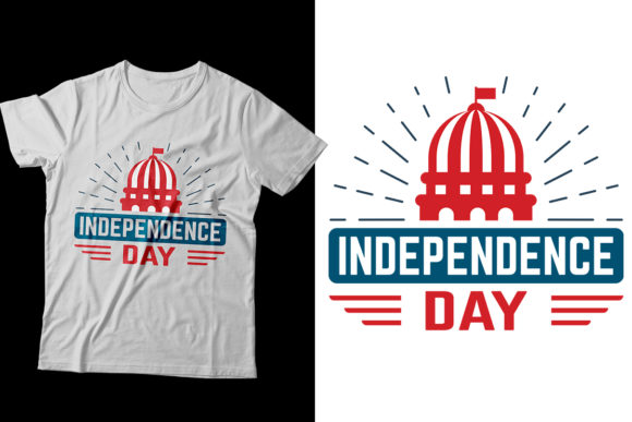 Indepence Day T-shirt Design Graphic Print Templates By Storm Brain