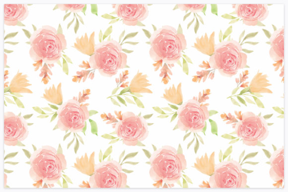 Download Free Seamless Pattern With Floral Watercolor Graphic By Elsabenaa for Cricut Explore, Silhouette and other cutting machines.