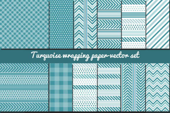 Turquoise Wrapping Papers Graphic Patterns By biljanacvetanovic