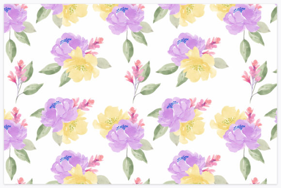 Download Free Rose Watercolor Flower Repeat Pattern Graphic By Elsabenaa for Cricut Explore, Silhouette and other cutting machines.