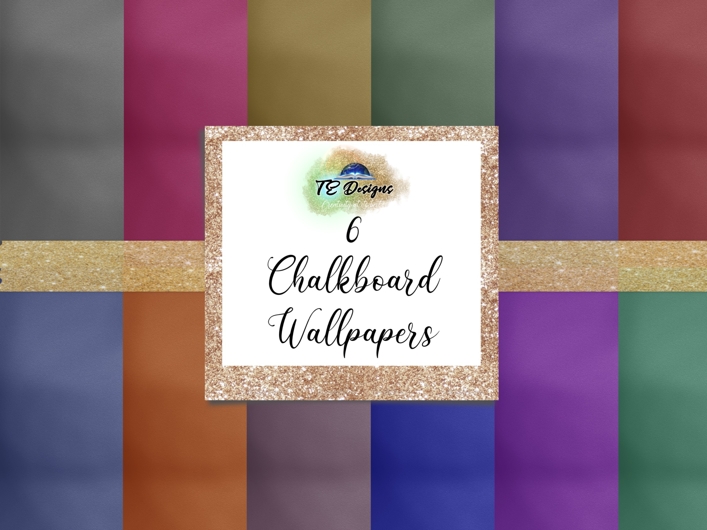 Download Free 12 Chalkboard Wallpapers Graphic By Te Designs Creative Fabrica for Cricut Explore, Silhouette and other cutting machines.