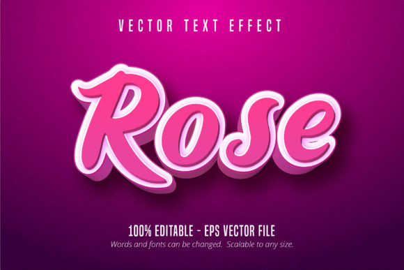 Print on Demand: 3D Pink Style Editable Text Effect Graphic Graphic Templates By Mustafa Bekşen
