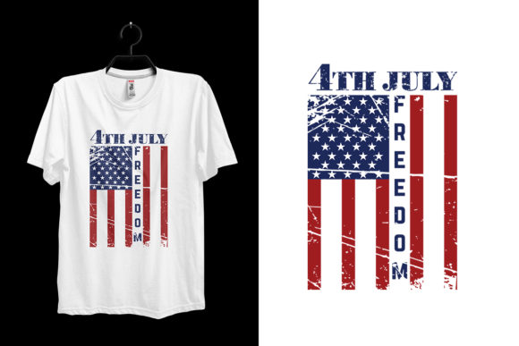 4th of July Independence T-shirt Design Graphic Print Templates By Storm Brain