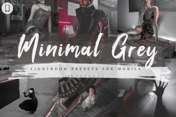 Print on Demand: 7 Minimal Grey Mobile Lightroom Presets Graphic Actions & Presets By 3Motional