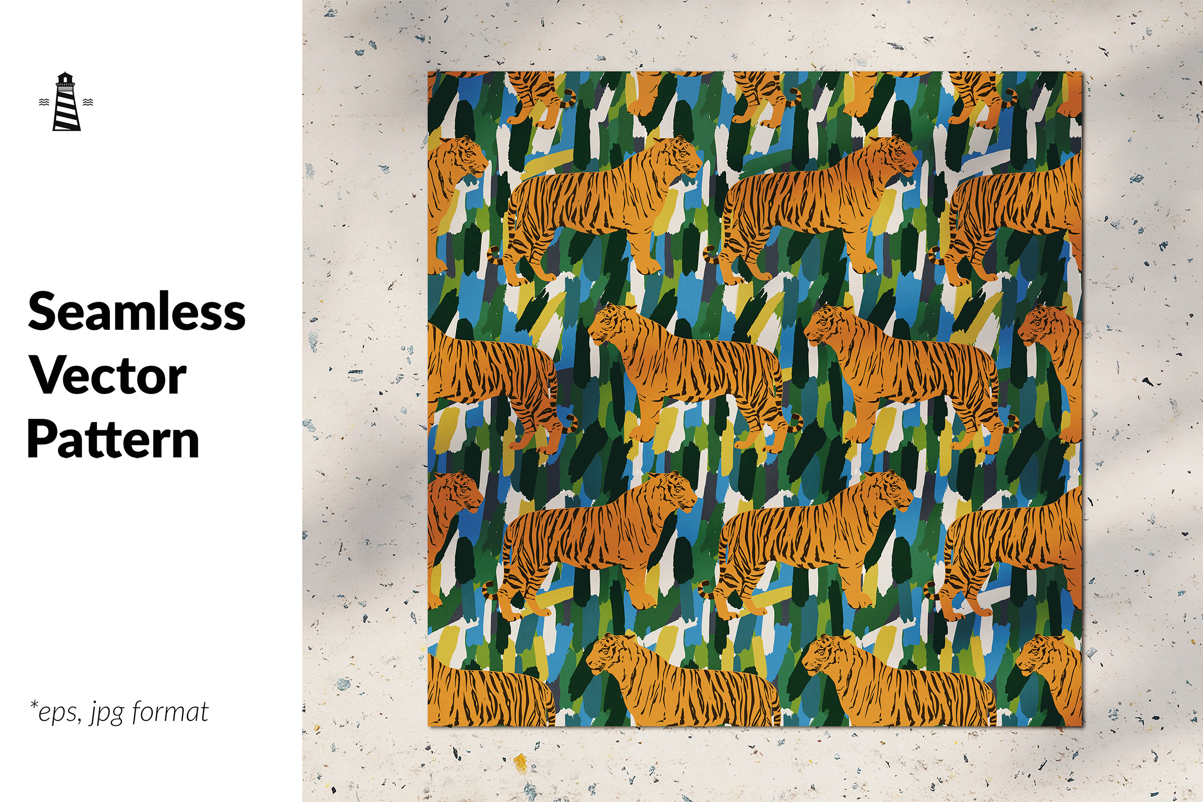 Download Free Abstract Tigers Seamless Pattern Graphic By Northseastudio for Cricut Explore, Silhouette and other cutting machines.